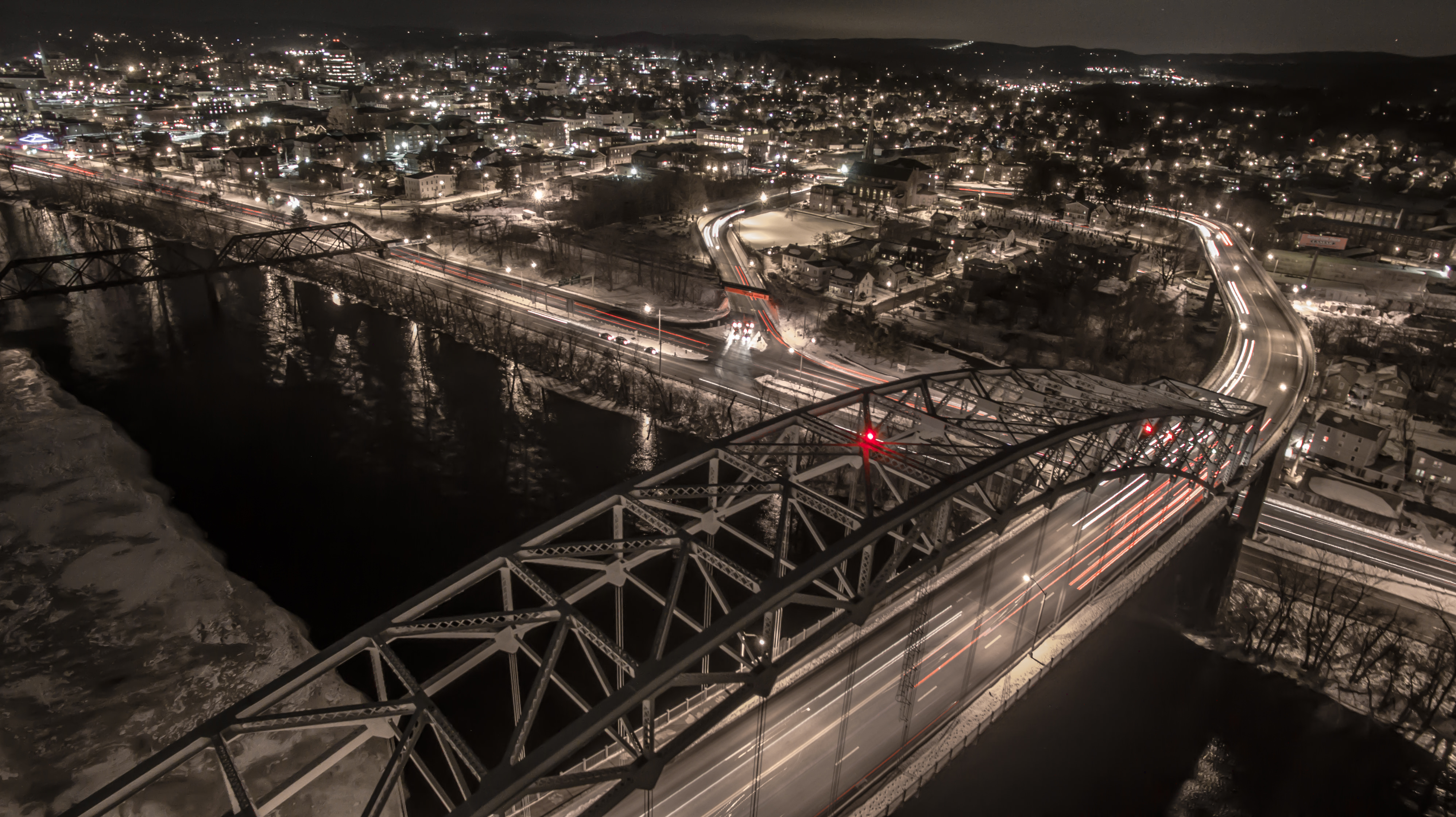 Drone Bridge Photo in Middletown Connecticut