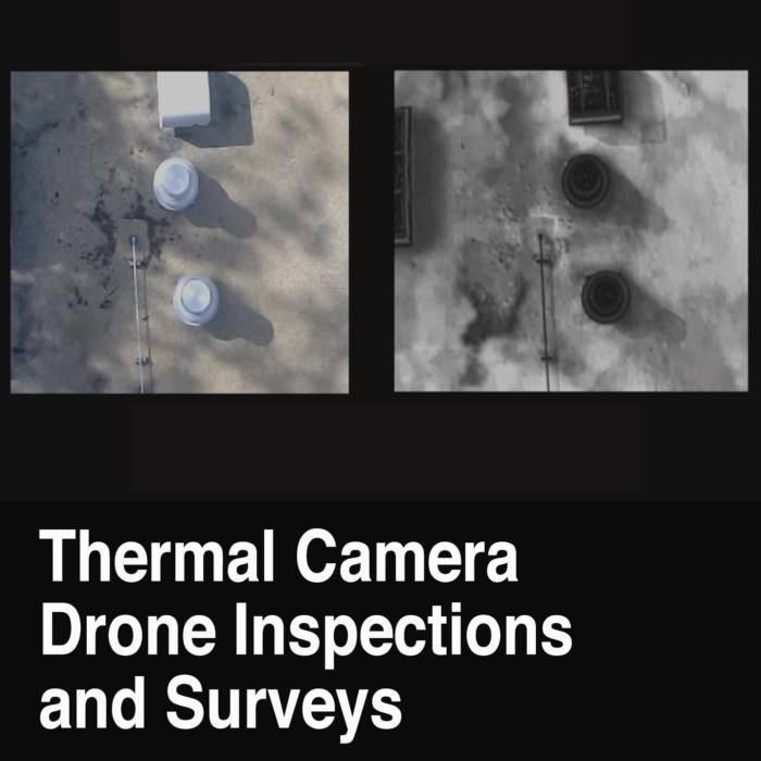 Thermal Drone Camera Inspection of Flat Roof