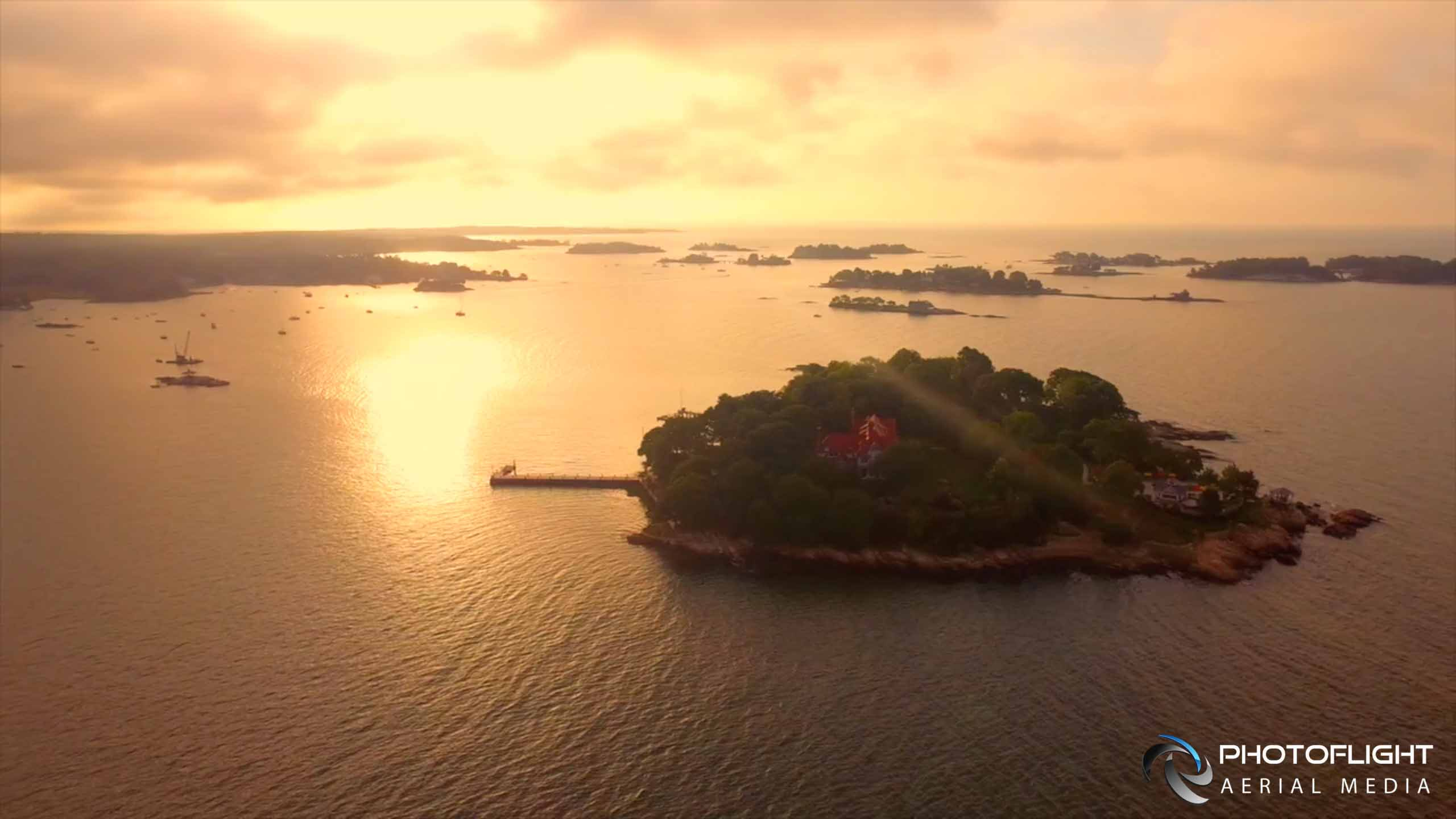 Drone Photo of Thimble Islands