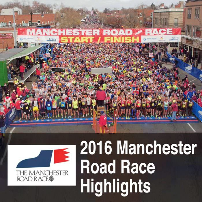 Manchester Road Race Aerial Drone Video Footage