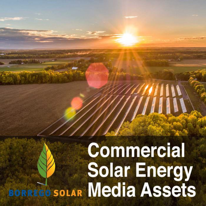Commercial Solar Energy Drone Photography and Video Media Assets