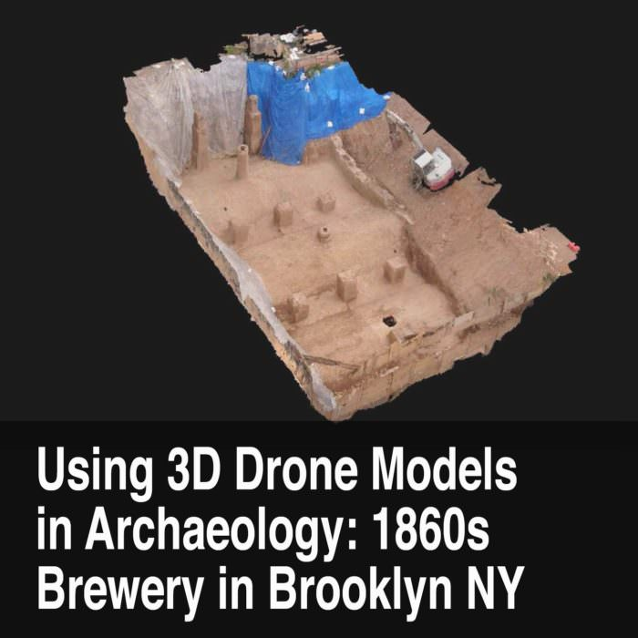 Using Drones in Archaeology: 3D Model an 1860s Brewery Vault in Brooklyn, New York