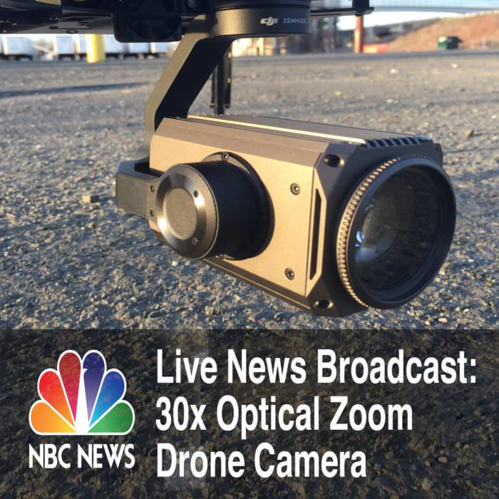 Using 30x Optical Zoom Drone Camera for Live News and Event Broadcast