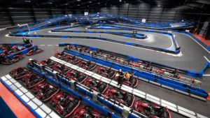 Indoor Go Kart Track Aerial Drone Video & Photo