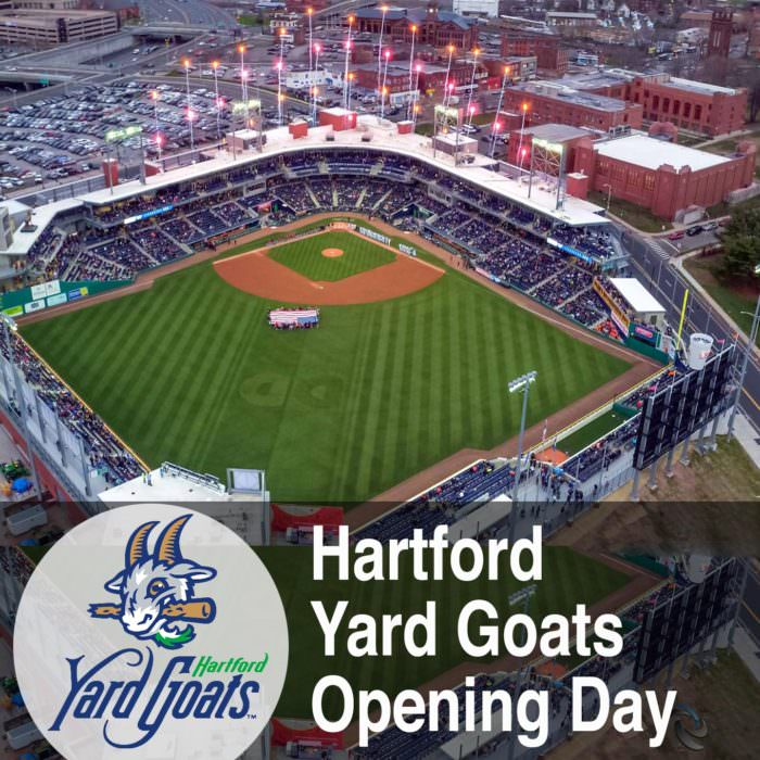 Hartford Yard Goats Opening Day Drone Video Coverage