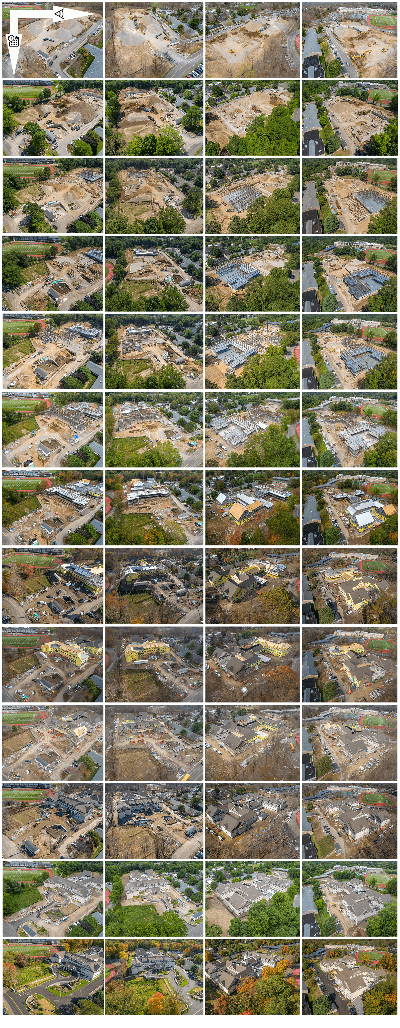 Construction Progress Drone Photography in CT by Photoflight Aerial Media