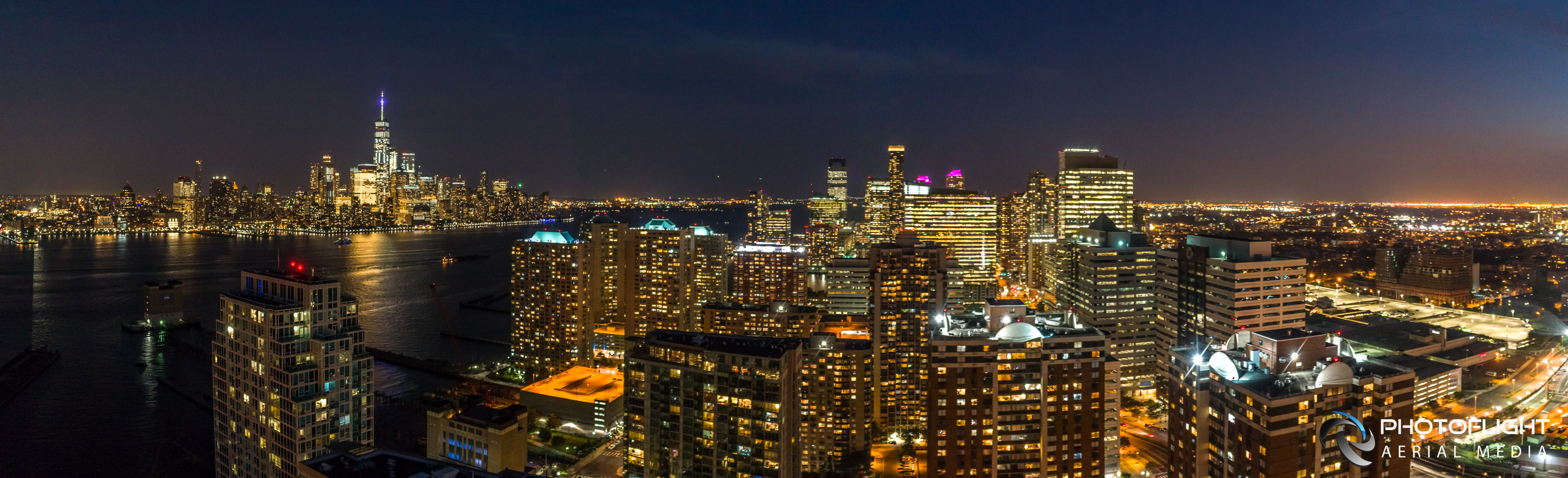Future View NYC Drone Panorama Twilight Real Estate Photography, by Photoflight Aerial Media