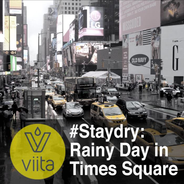 #Staydry: Rainy Day in Times Square