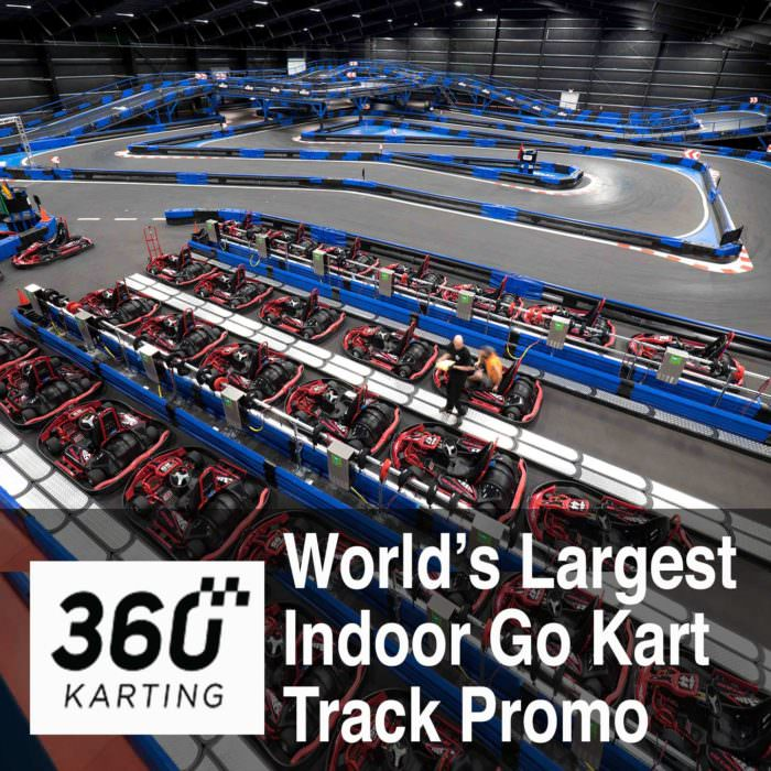 Drone Video of World's Largest Indoor Go Kart Track