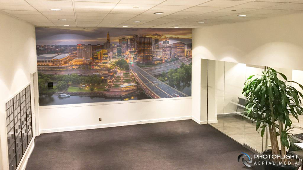 Hartford CT Mural Drone Panorama by Photoflight Aerial Media- CT Drone Photography