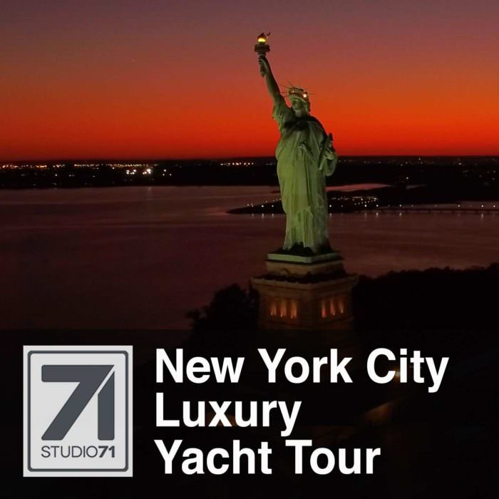 NYC Luxury Yacht Tour Drone Video