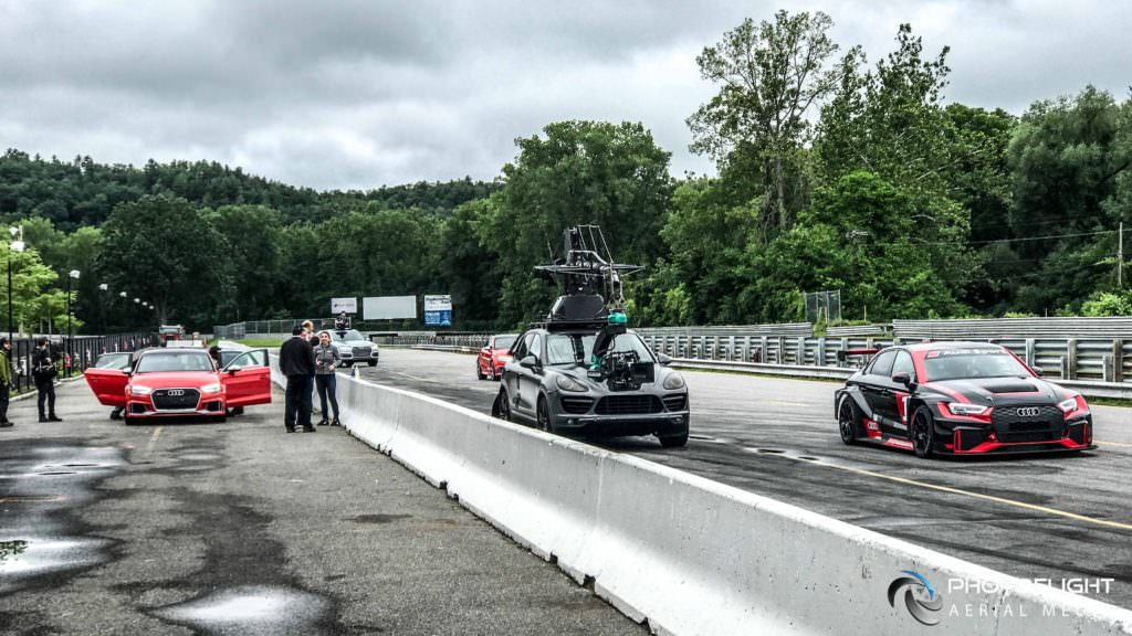 Audi Sport Experience Video Audi RS3 Audi TTRS, Audi RS3 LMS, Lime Rock CT-drone video by Photoflight Aerial Media