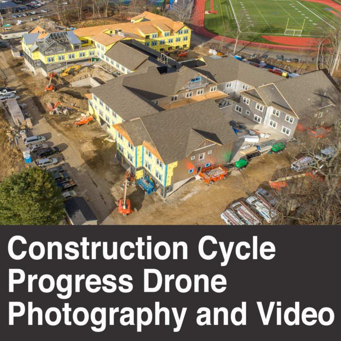 Construction Cycle Progress Drone Photography and Video