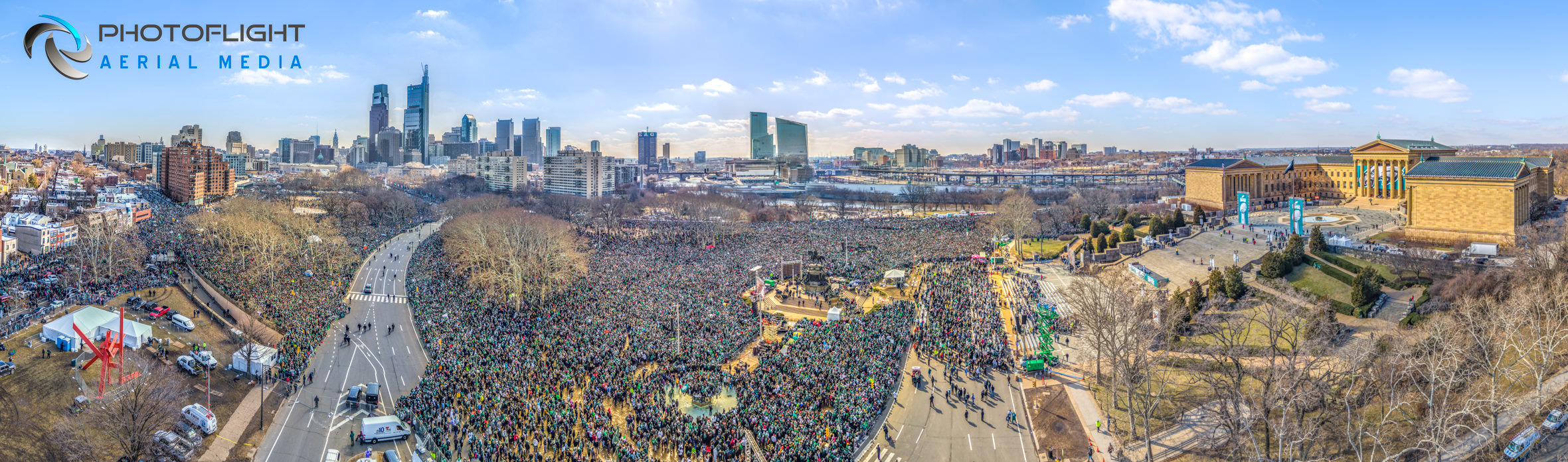 Eagles 2018 Super Bowl Victory Parade PA drone photography