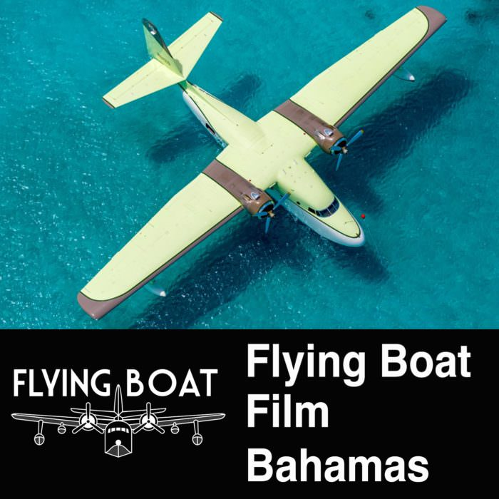Flying Boat Film Drone Video Shoot in Bahamas