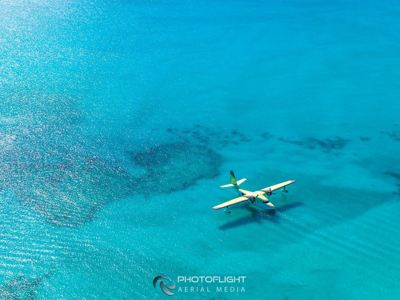 Flying Boat Film Bahamas, PhotoFlight Aerial Media, professional drone camera operator