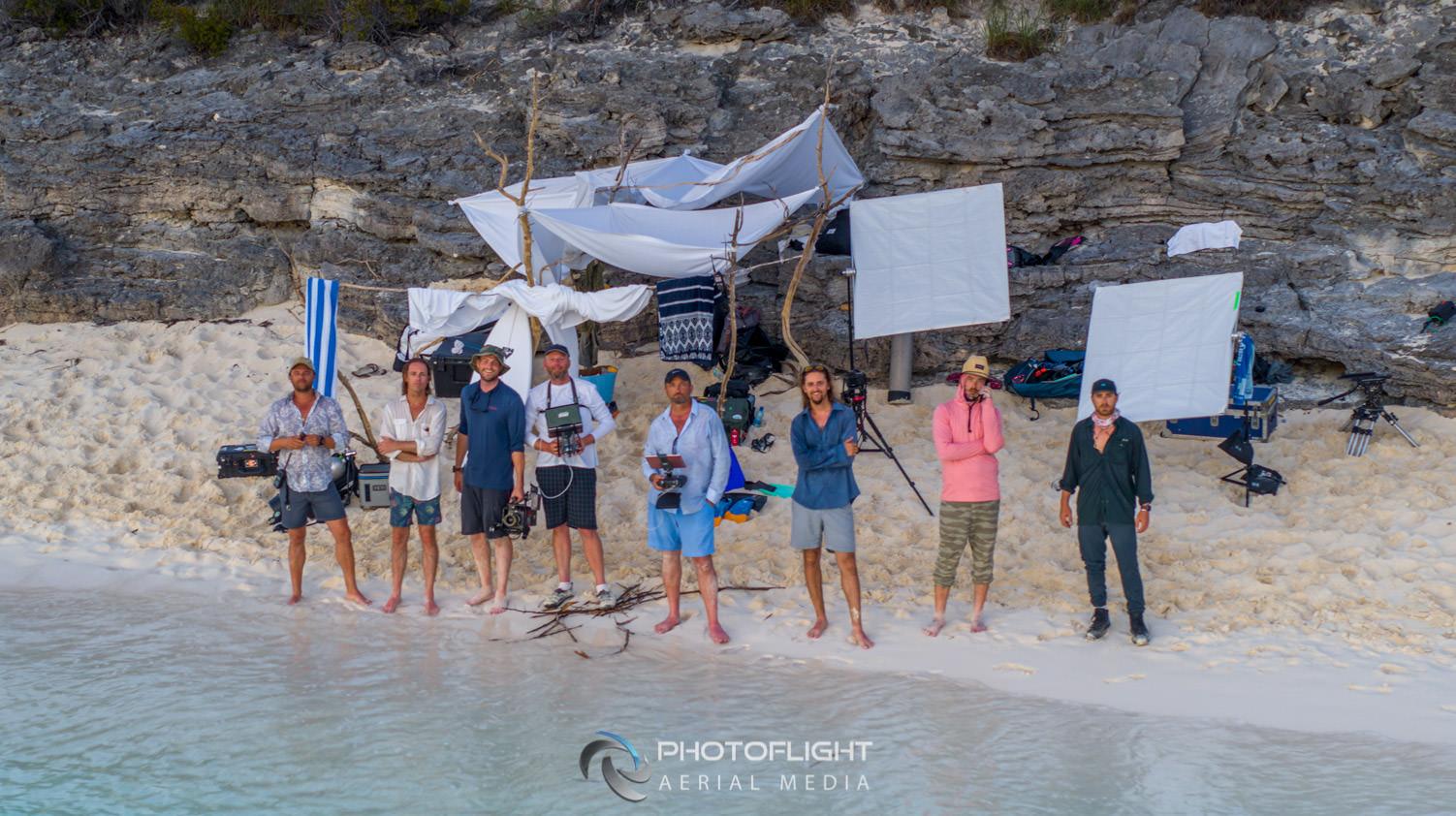 Flying Boat Bahamas Crew, Photoflight Aerial Media, Professional Drone Operator