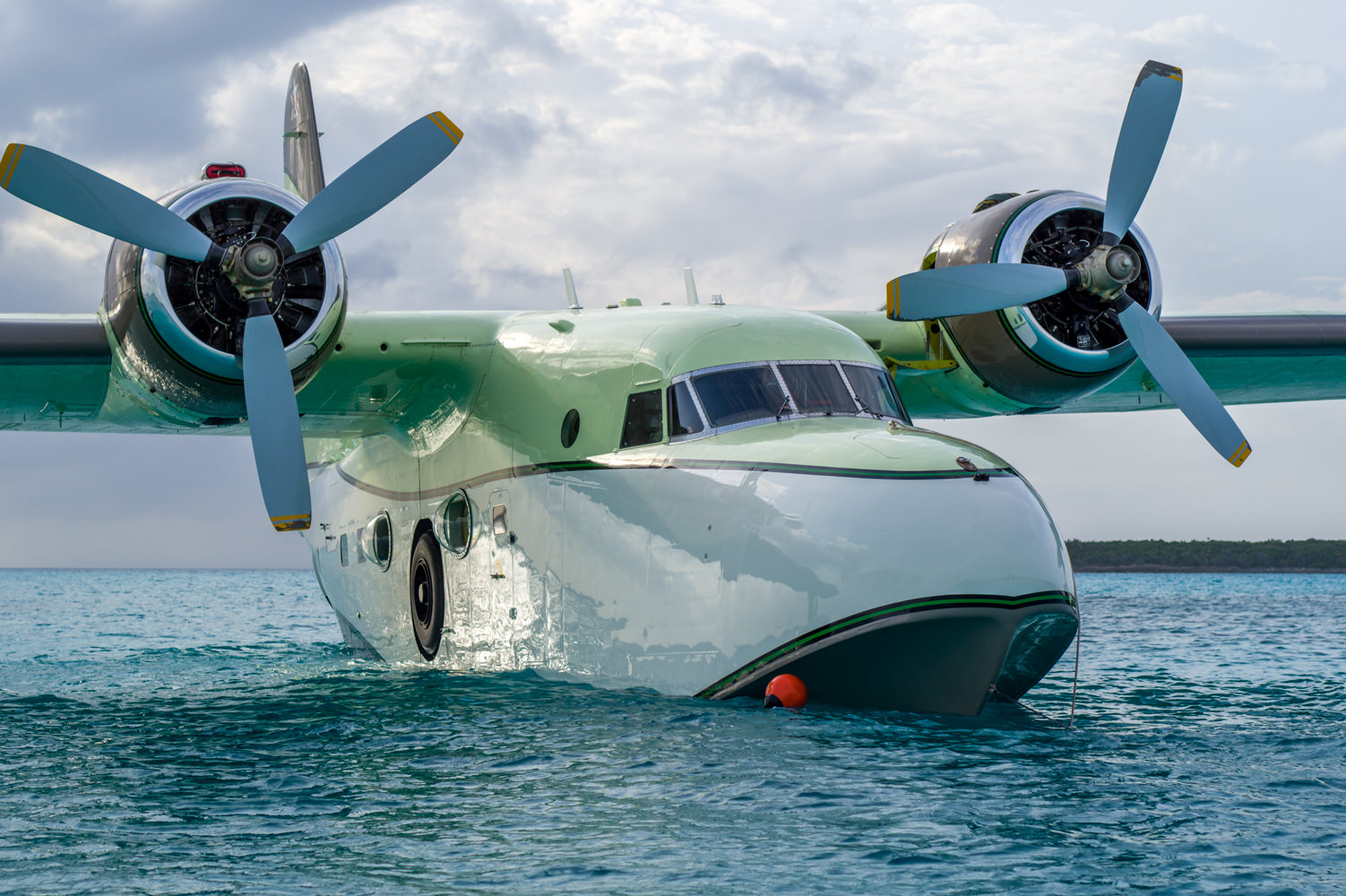 Flying Boat Grumman Albatross, drone photography by Photoflight Aerial Media.