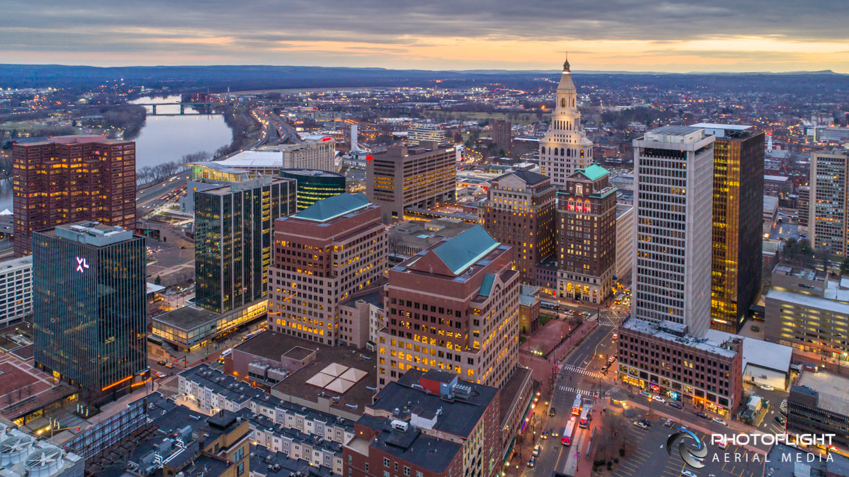 Aerial Photograph of Hartford CT, Photoflight