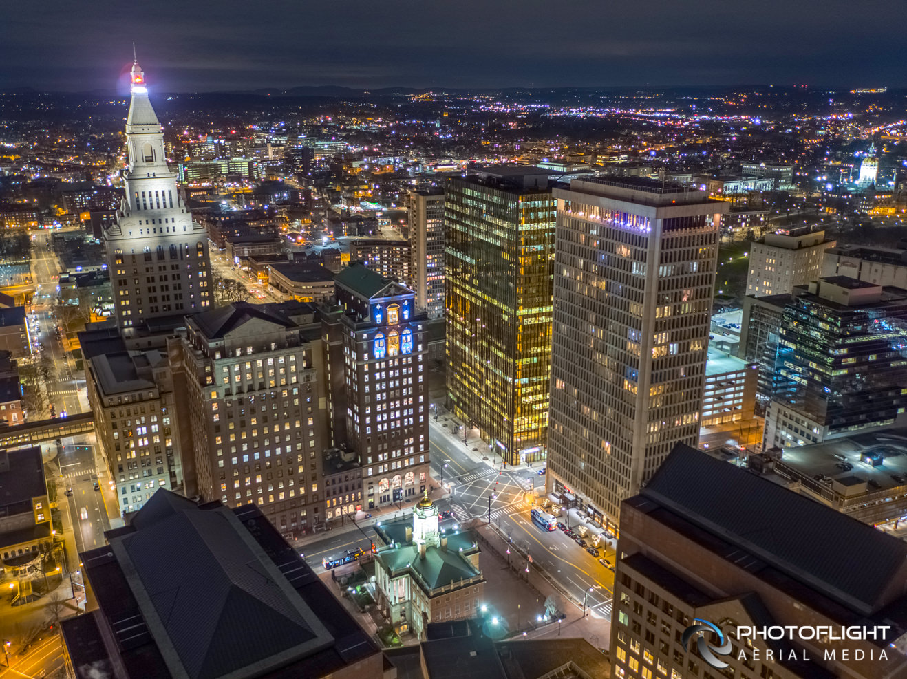 Stark Building, Hartford CT, Commercial Real Estate Drone Photography in CT by Photoflight