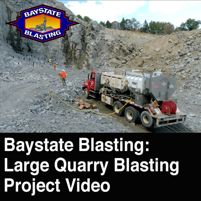 Quarry Blasting Project – Drone Video Production in Connecticut