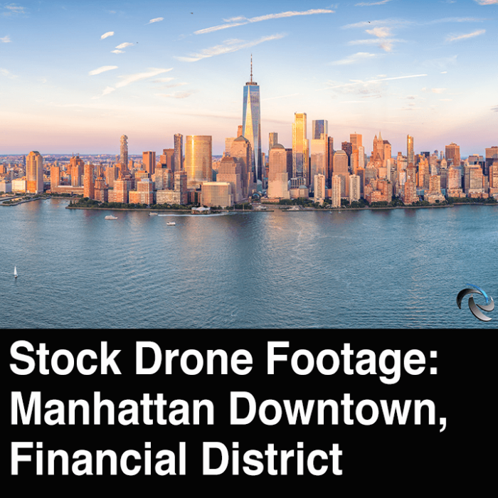Stock Drone Footage of Manhattan NYC
