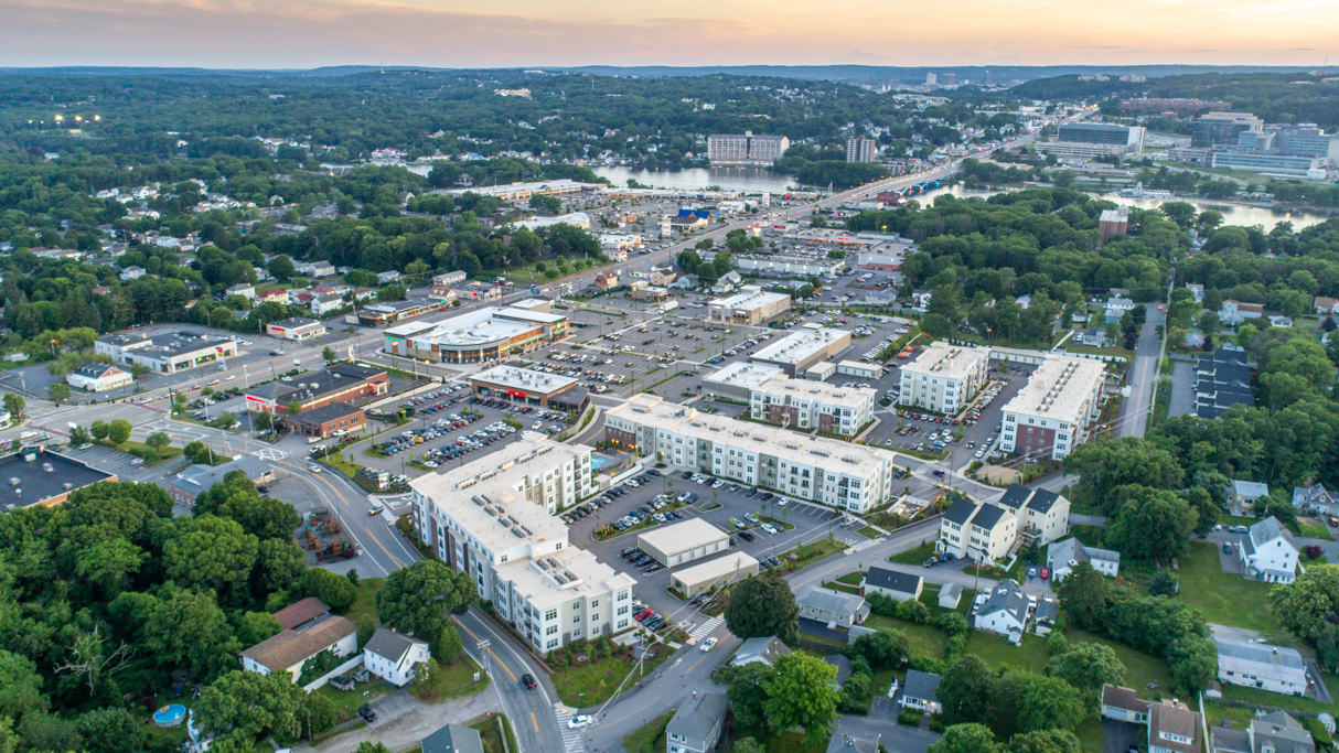 Commercial real estate drone photography in MA