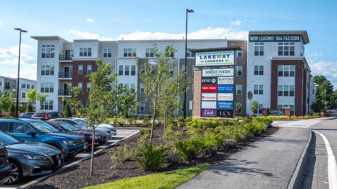 Commercial Real Estate Photography in MA - Lakeway Commons by Grossman Development, photo by Photoflight Aerial Media.